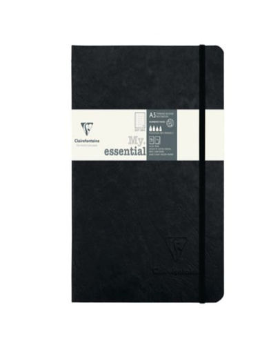 Clairefontaine My Essential muistikirja A5/ 96 piste black ivory
